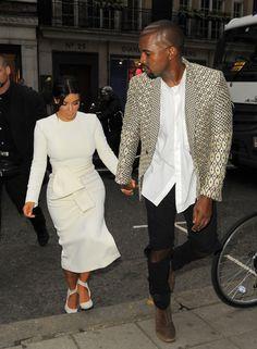 kimkardashianfashionstyle:  September 23, 2014-Kim Kardashian & Kanye West going to Hakkasan in London.