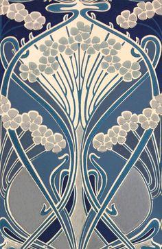 Ianthe Flower Ocean wallpaper by Liberty Fabrics