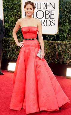 Golden Globe Awards 2013 Jennifer Lawrence in Christian Dior Couture