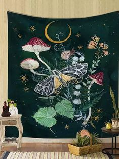 Simple butterfly psychedelic background tapestry home decoration