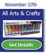 The 9th day of Christmas sale is 20% off All Arts and Crafts!! http://sqz.co/b2K5Pyf