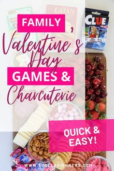 Trying to come up with something special for Valentine's Day?! Show your love by creating a pretty food board and pulling out some new games for a fun family night! It's such a simple way to make your time together extra special this year! Family Valentines Day, Valentines Food, Funny Valentine, Valentine Crafts, Easy Holiday Recipes, Holiday Ideas, Classic Card Games, Goat Cheese Pizza, Gluten Free Gingerbread