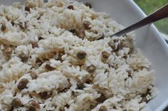 Panamanian CoconutRice   ARROZ CON GANDULES