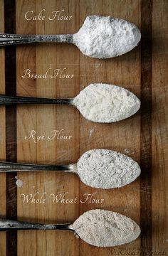 Types of flour by By WillCookForFriends.com