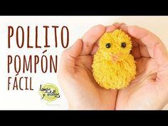 Tutorial Pollito con Pompones Fácil | Manualidades con niños - YouTube