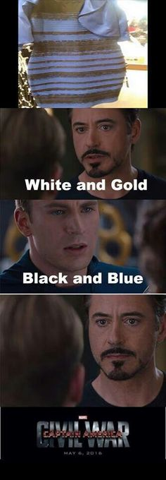 Those who see white and gold.