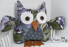 Cute stuff by Shirley: Still Obsessed with Owls... this time Halloween and Christmas made with Stampin Up Fabric
