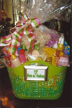 """auction basket ideas - """"Ace of Cakes"""" Theme Baskets, Themed Gift Baskets, Diy Gift Baskets, Basket Gift, Fundraiser Baskets, Raffle Baskets, Homemade Gifts, Diy Gifts, Baking Basket"""