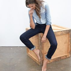 """Pinned from Pinterest user: chicagoinparis From """"Ways to Wear it: Chambray"""" Board. Great fashion tips customized by each article of clothing in your wardrobe."""