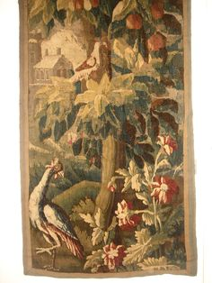 18th century Bird and Parrot Tapestry, Paris, France