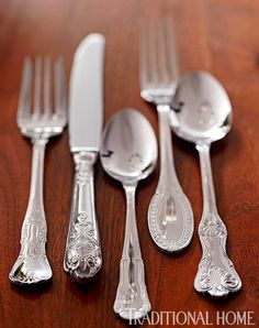 """Wallace """"Hotel Luxe"""" Continental Stainless Steel Flatware"""