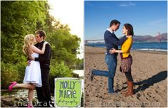 Couple makes amusing mockery of gender stereotypes in their engagement photos.