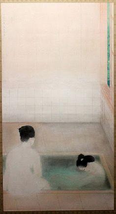 Kobayashi Kokei, Hot Spring, 1921