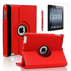360 Degree Rotating Stand Smart Case Cover for iPad with Retina Display (iPad 4th Generation), For the new iPad 3 & iPad 2