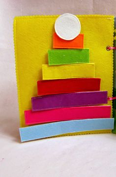 Pyramid toy Quiet book page Toddler busy book Busy book #quietbook #busybook #baby #personalizedtoy #toys #feltbook #toddlerquietbook