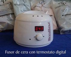 Práctico fusor de cera con con control digital de la temperatura en Milas Beauty