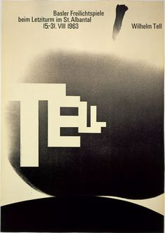 I've loved this poster for years. | ♥ Armin Hofmann. Wilhelm Tell. 1963