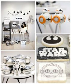 Everything everything to make a great Star Wars party! - Everything everything to make a great Star Wars party! Star Wars Kids, Star Wars Baby, Bolo Star Wars, Geek Mode, Aniversario Star Wars, Star Wars Cake Toppers, Star Wars Birthday, Diy Birthday, Birthday Cakes