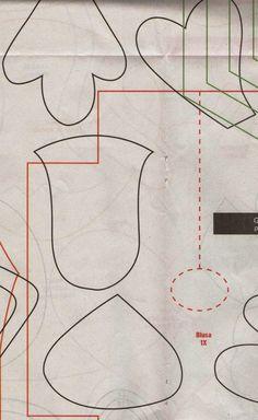 Moldes Para Artesanato em Tecido: Porta Coador de Café com moldes 6