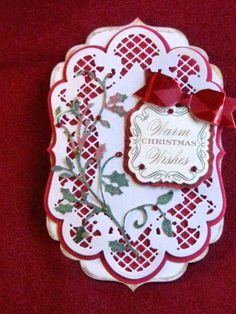 Christmas Tag - Warm Wishes by ChaosMom - Cards and Paper Crafts at Splitcoaststampers