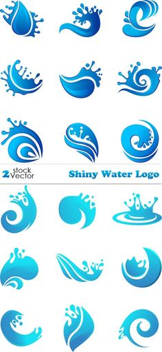 Other ideas for water symbols to integrate into our logo design.