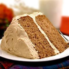 Spice Cake with Maple Brown Sugar Frosting, Karo Syrup (chocolate buttercream frosting sugar free) Spice Cake Mix Recipes, Dessert Recipes, Recipe Mixes, Flan, Scones, Tomato Soup Cake, Brown Sugar Frosting, Vanilla Frosting, Chocolate Buttercream