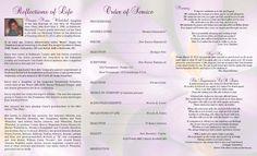 Inside of Funeral Program