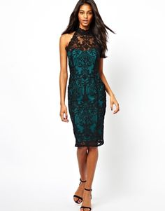 Image 1 of Lipsy Midi Dress in Lace