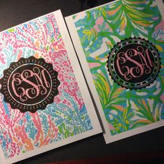 DIY Lilly monogram binder covers by claireschuchard. Made with @monogramapp