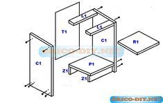 Bricolaje-Diy Planos gratis Como hacer muebles de melamina madera y Mdf   Web del Bricolaje Diy diseño y muebles