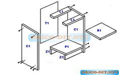 Bricolaje on pinterest for Planos de muebles de madera pdf