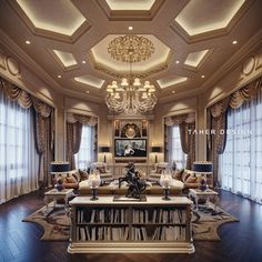 Luxury House Interior Design Tips And Inspiration Mansion Interior, Luxury Homes Interior, Luxury Home Decor, Luxury Apartments, Mansion Bedroom, Family Room Design, Luxurious Bedrooms, Ceiling Design, Luxury Living
