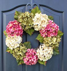 Hey, I found this really awesome Etsy listing at https://www.etsy.com/listing/157597003/hydrangea-wreath-wreath-summer-wreath
