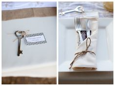"key bottle openers as favors with the tag ""celebrate often"" - such a cute favor idea!"