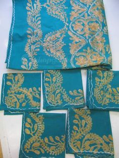 shopgoodwill.com: Vintage Handmade Syrian Tablecloth Placemat Set