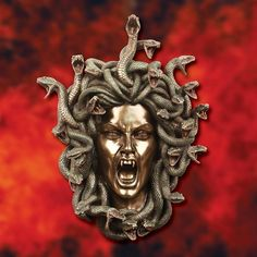 One of the most feared creatures of Greek mythology, this resin statue of Medusa has been metalized, giving it the feel and look of antiqued bronze. Art Gallery, Scrap Metal Art, Metal Sculpture, Statue, Sculpture, Art Gallery Wall, Art, Metal Tree Wall Art, Medusa Art