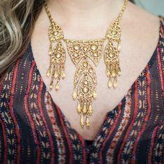 Gold details + Bohemian patterns are a perfect combination. #BenAmun #Bohemian #Boho