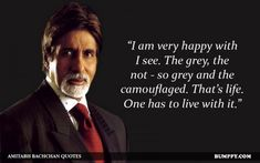 15 Quotes By Amitabh Bachchan That Prove He Is The 'Heartthrob' Of Bollywood Amitabh Bachchan Quotes, Inspirational Quotes Pictures, English Quotes, Real Man, Quotations, Bollywood, How To Get, Sayings, Life