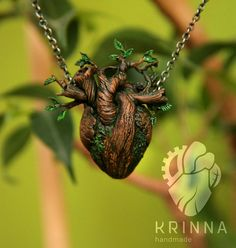 Growing heart pendant PREORDER Heart of the by KrinnaHandmade
