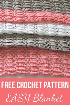 Try this quick and easy unisex crochet blanket for baby. This afghan pattern is made up of a beautiful stitch and is perfect for beginners. crafts for beginners easy quilts Easy Crochet Blanket for Baby, Perfect for Beginners - Crochet Dreamz Crochet Baby Blanket Free Pattern, Easy Crochet Blanket, Baby Afghan Crochet, Afghan Crochet Patterns, Free Crochet, Knitting Patterns, Baby Afghans, Crochet Blankets, Baby Blankets