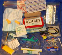 How To Customize Your Altoids Survival Kit or PSK, plus ideas for a few other survival kits.