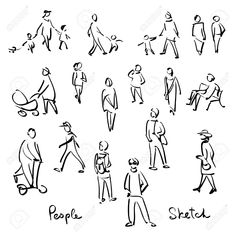 Illustration of Casual People Sketch. Outline hand drawing vector Illustration vector art, clipart and stock vectors. Human Figure Sketches, Human Sketch, Human Figure Drawing, Figure Sketching, Urban Sketching, Landscape Sketch, Landscape Drawings, Illustration Vector, People Illustration