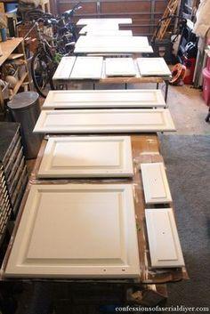 How to Paint Kitchen Cabinets (A Step-by-Step Guide) Kitchen Cabinets cabinets Guide kitchen Paint StepbyStep Diy Kitchen Cabinets, Kitchen Paint, New Kitchen, Kitchen Ideas, Oak Cabinets, Bathroom Cabinets, Kitchen Designs, Kitchen Counters, Oak Cabinet Makeover Kitchen