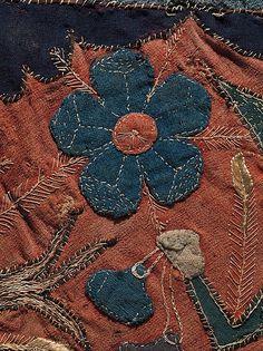 Текстильный фрагмент с Единорог, олень, Лев и Кентавр   Скандинавские   мет