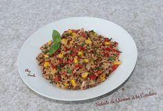 Salade de quinoa  à la catalane ( pour 1 pers)