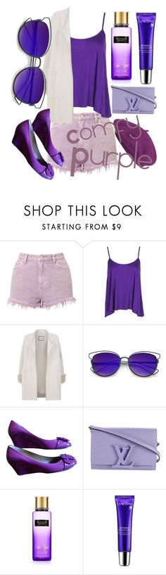 """""""Love,purple👾💁🏼💜"""" by ericaamn ❤ liked on Polyvore featuring Miss Selfridge, Boohoo, Max & Moi, ZeroUV, Chloé, Louis Vuitton, Victoria's Secret, Lancôme and Seeberger"""