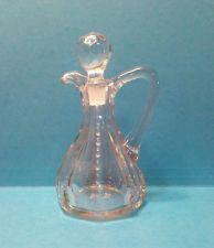 Beautiful Vintage Clear Glass Cruet Bottle