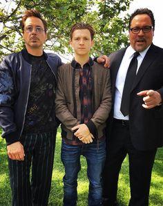 Robert Downey Jr., Tom Holland and Jon Favreau (photo cred: Jimmy Rich, Glam: Davy Newkirk, Style: Jeanne Yang)