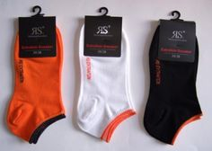 NEON Women's Trainer Socks Pack of 3 Size 39 / 42, Orange-Black-White RIESE STRÜMPFE http://www.amazon.co.uk/dp/B00JVLWPEI/ref=cm_sw_r_pi_dp_b-mgwb0D3EAW9
