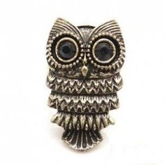 Bague vintage Hibou (Chouette) - Femme - http://www.wonderfulworldofjewelry.com/jewelry/rings/bague-vintage-hibou-chouette-femme-fr/ - Your First Choice for Jewelry and Jewellery Accessories